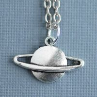 Silver Saturn Necklace by MonsterBrandCrafts