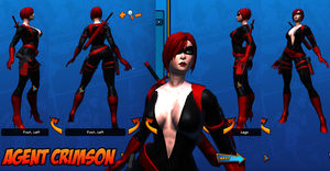 Agent Crimson Costume Ref 01 by Agent-Foo