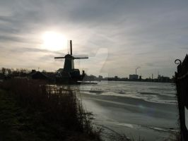 Windmills in Holland by MorningGlory34