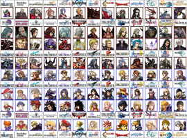 Dissidia Endless Cycle Characters 9/29/12 by Dedlocked