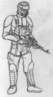 Rebel Commando Sketch by Davis--237834