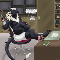 In Warth's Office (color) by Greedywoozle