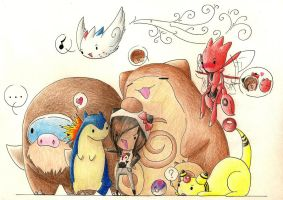 :RESUBMIT: My Soulsilver Team by hyperfluffball
