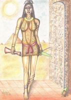 Seshat, goddess of wisdom by thehoundofulster