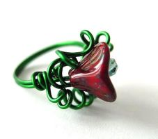 Acad. 1960s Ring Green+Red by sojourncuriosities