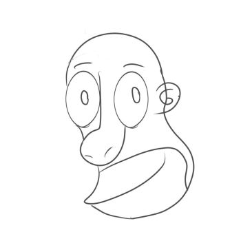 Homer Simpson Sketch by saof