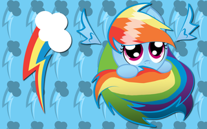 Rainbow Dash Sphere WP by AliceHumanSacrifice0