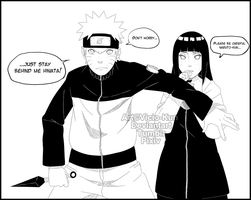 NaruHina month day 2 - Mission together by vicio-kun