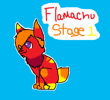 Flameachu Stage 1 by FlameFiggleBottom