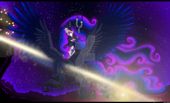 Elder and her planet under attack of Distronix by Space1702