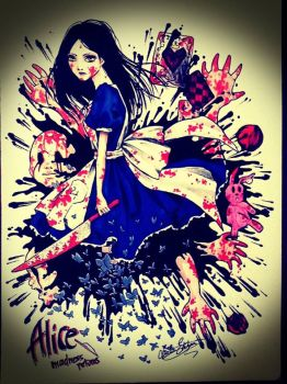 Alice Madness Returns draw by the1illustrator