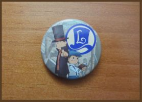 Professor Layton and the Eternal Diva Official Pin by BenjaminHunter