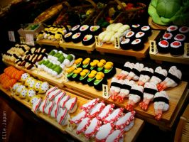 Sushi by kidwithscissors