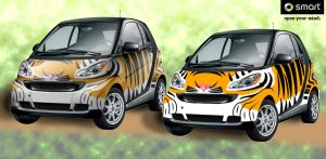 Smart Car - Tiger by spatialchaos