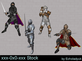 Knights pack of 4 by xxx-0x0-xxx