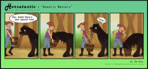 Horsetastic - Beastly Manners by DolphyDolphiana