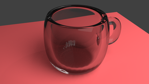 cup - blender 3D model - glass edition by pictobrony