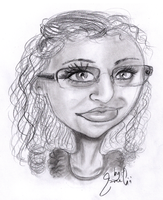Csilla Caricature by Gibitta
