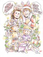 2010 Christmas Card Version 1 by Yeocalypso