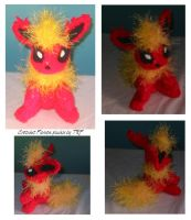 Crotchet flareon plushie by teenagerobotfan777