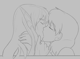 Smooch by QuinlokiArt
