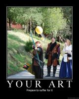 Demotivational Your Art by jackelares