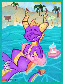 (Spyro the Dragon) The Vacation He Deserves by KrazyKari