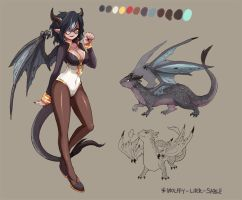 Dragon polymorphs - Wolffy! by june-B