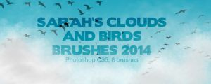 Sarah's Clouds and Birds Brushes by SarahScala