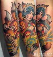 ahri tattoo by mojoncio