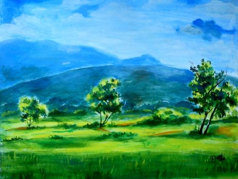 Green Land by DiptiArt