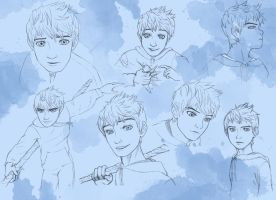 Jack Frost Sketches by VanillaDeonna