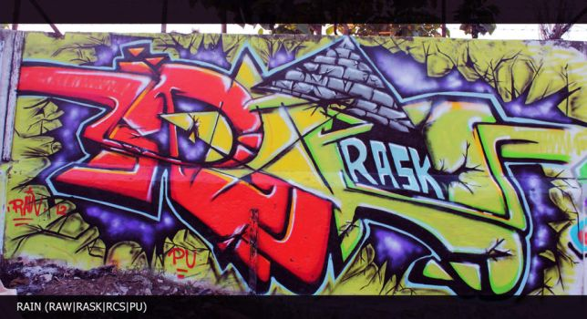 Rain  @Cans Smile On The Wall by yossypaint