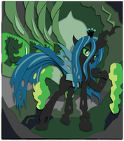 15 x 17 Shadowbox Mock-up:  The Changeling Queen by The-Paper-Pony