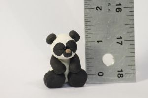 Clay Panda Sculpture by lizayle