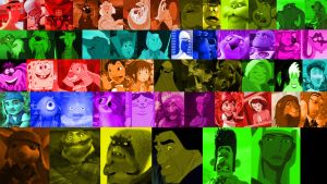 A Rainbow of Animated Movie Characters (Part 2) by Michaelsar