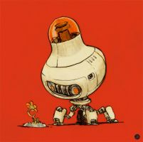 Robot Contemplating Life by JakeParker