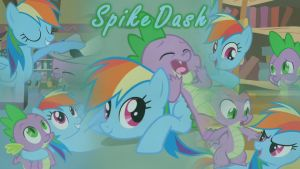 SpikeDash/RainbowSpike Wallpaper by DrakkenlovesShego12
