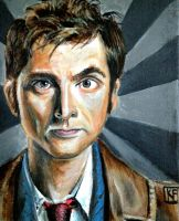 The 10th Doctor ( David Tennant ) by ckrickett