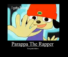 Parappa Motivation Poster by sonic2344