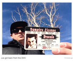 Vampire license by MJandGhostAdventures