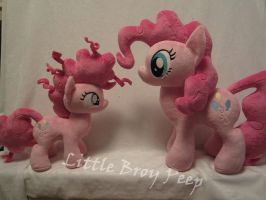 Mlp double pinkie pie plush (commissions) by Little-Broy-Peep