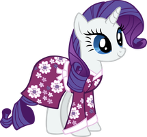 Rarity in her Nightgown Vector by scrimpeh