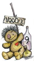 voodoo doll and potions by sketchoo