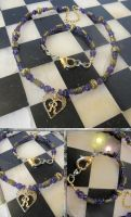 R Amethyst and Iolite Necklace and Bracelet Set by Windthin