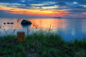 Sunset of PDL with Danbo by fighteden