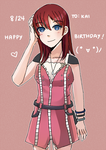 Happy Birthday HeartlessKairi by dreamychocola