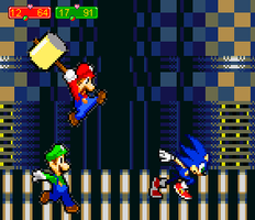 Mario and Luigi vs Sonic by Toad900