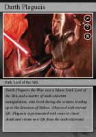 SW-Cards: Darth Plagueis by DarthVaderXSnips