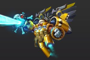 Puzzle Trooper_ Plane guys yellow by largee17